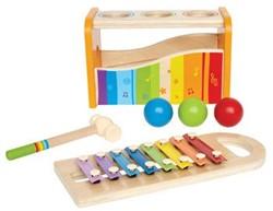 Hape houten muziekinstrument Xylofoon klopbank