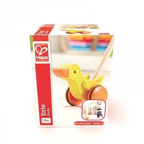 Hape houten duwstok duck-1