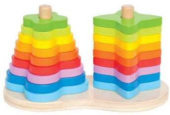 Hape Dubbele regenboog stapelvormen