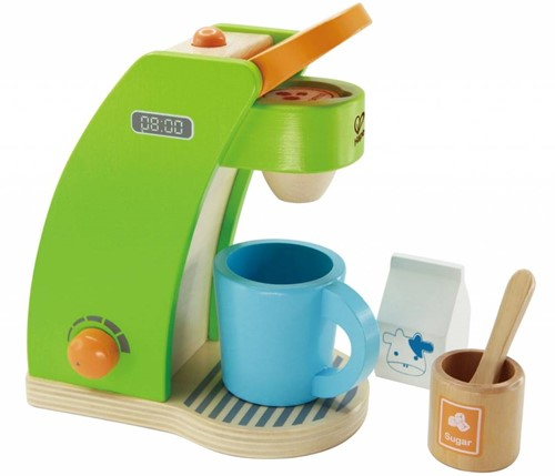 Hape houten keuken accessoires Koffiemachine