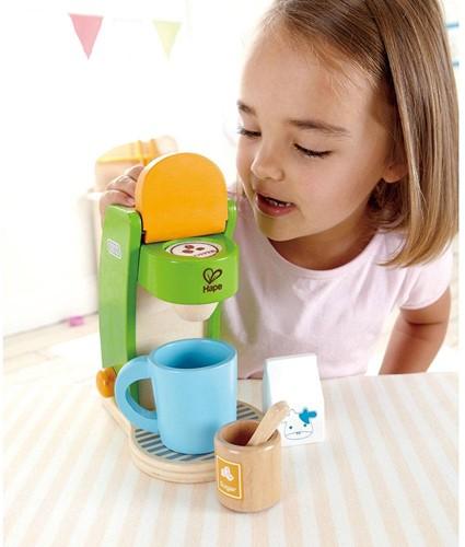 Hape houten keuken accessoires Koffiemachine-3