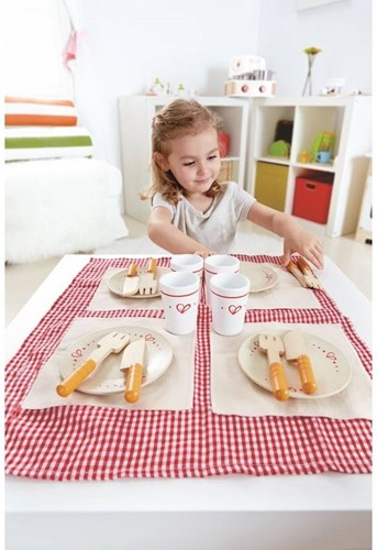 Hape houten keuken accessoires Lunch Time Set-3