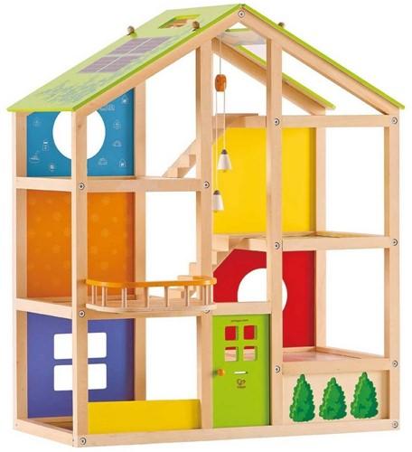 Hape houten poppenhuis All seasons house-unfurnished-1