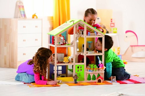Hape houten poppenhuis All seasons house-unfurnished-2