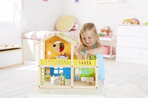 Hape houten poppenhuis Happy villa