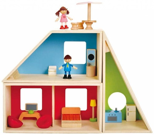 Hape houten poppenhuis Fantasie huis-1