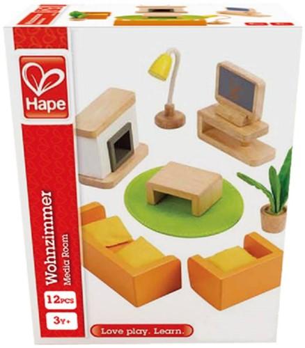 Hape houten poppenhuis meubels Woonkamer-3