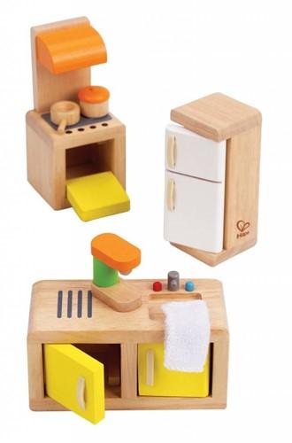 Hape houten poppenhuis meubels Keuken