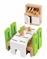 Hape houten poppenhuis meubels Eetkamer-2
