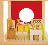 Hape houten poppenhuis meubels Eetkamer-3