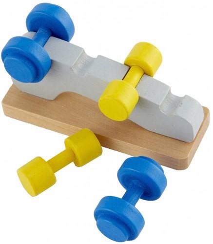 Hape houten poppenhuis meubels Fitnessstudio-3