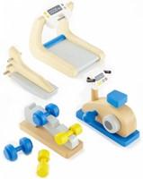 Hape houten poppenhuis meubels Fitnessstudio-1