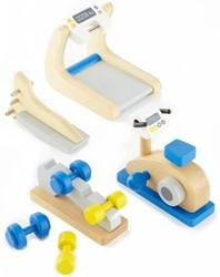 Hape houten poppenhuis meubels Fitnessstudio