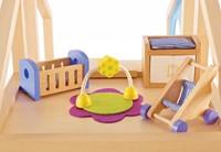 Hape houten poppenhuis meubels Babykamer