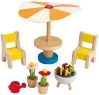 Hape houten poppenhuis meubels Terrasset