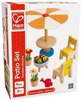 Hape houten poppenhuis meubels Terrasset-2