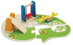 Hape houten poppenhuis accessoire Playground