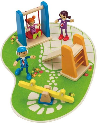 Hape houten poppenhuis meubels Playground-2