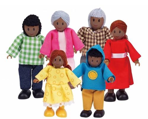 Hape poppenhuis poppen Happy Familie Afrikaans-1