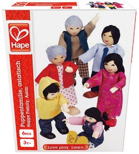 Hape poppenhuis poppen Happy Familie Aziaat-2