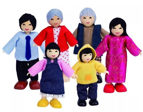 Hape poppenhuis poppen Happy Familie Aziaat-1
