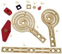 Hape Quadrilla houten knikkerbaan set Galaxy uitbreidingsset-1