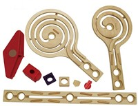 Hape Quadrilla houten knikkerbaan set Galaxy uitbreidingsset-3