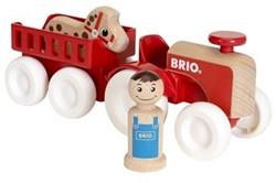 Brio  houten speelvoertuig Farm Tractor Set 30265