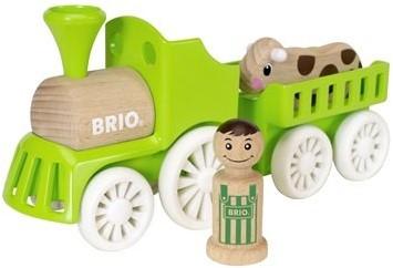 BRIO speelgoedtrein met koe in wagon