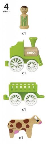 BRIO speelgoed Treinset met koe in wagon-3
