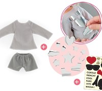 Corolle Ma Cherie accessoire Sweat & Shorts Set To Be Customized 33cm