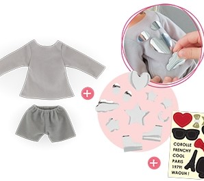Corolle poppenkleding Mcc Sweat & Shorts Set To Be Customized FBL54