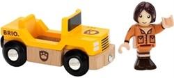 Brio  houten trein accessoire Safari jeep met chauffeur 33723