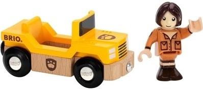 Brio  houten treinwagon Safari wagon met giraffe 33724-2