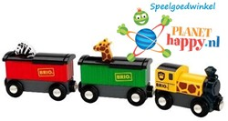 Brio  houten trein Safari trein 33722