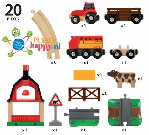 BRIO trein Treinset met boerderij 33719-2