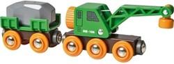 Brio  houten treinwagon Kraanwagon 33698