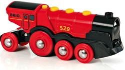 Brio  houten trein locomotief groot batterij rood 33592