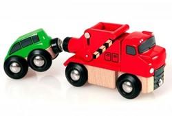 Brio  houten trein accessoire Sleepauto met auto 33528