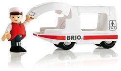 Brio  houten trein Passagierstrein loc met machinist 33508