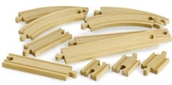 Brio  houten treinrails Rails uitbreidingsset 33401