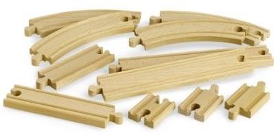 Brio  houten treinrails Rails uitbreidingsset 33401-1