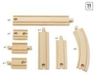 Brio  houten treinrails Rails uitbreidingsset 33401-2