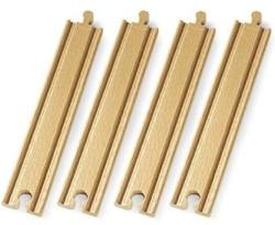 Brio  houten treinrails Lange rechte rails 33341