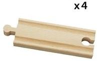 BRIO Halve rechte rails - 33334