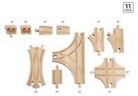 Brio  houten treinrails Advanced uitbreidingsset 33307