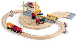 Brio  houten trein set Rail & road kraanset 33208