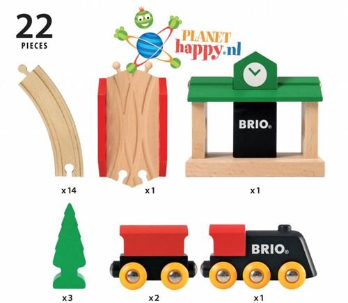 Brio  houten trein set Klassieke treinset 33028-2