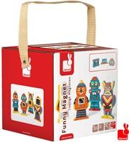 Janod  houten stapelfiguur Funny magnets robot-1