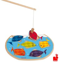 Janod  houten vormenpuzzel kinderspel vissen vangen-2